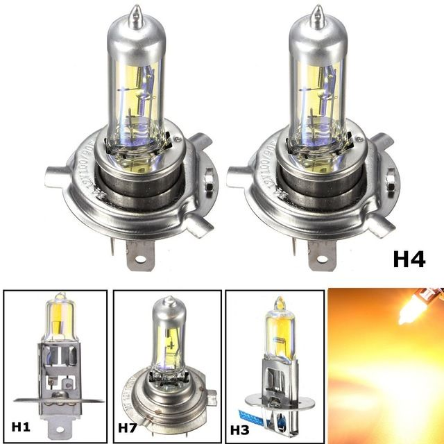 H1 H3 H4 H7 55w Yellow Led Car Light Halogen Lamp Bulb Car Styling Headlight Lamp Xenon Fog Lights Dipped Beam Review Halogen Lamp Lamp Bulb Car Lights