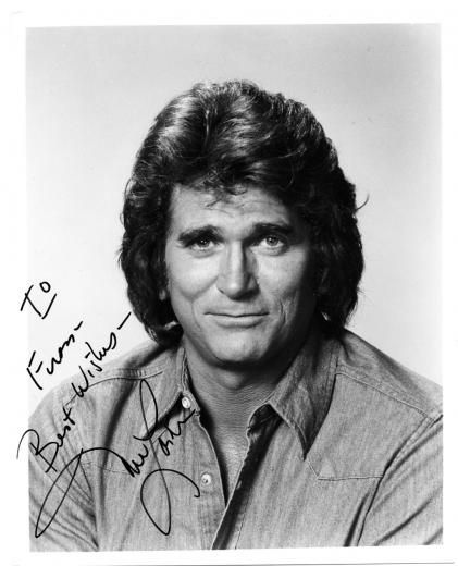 L michael landon signed photo collectables little for The landon house