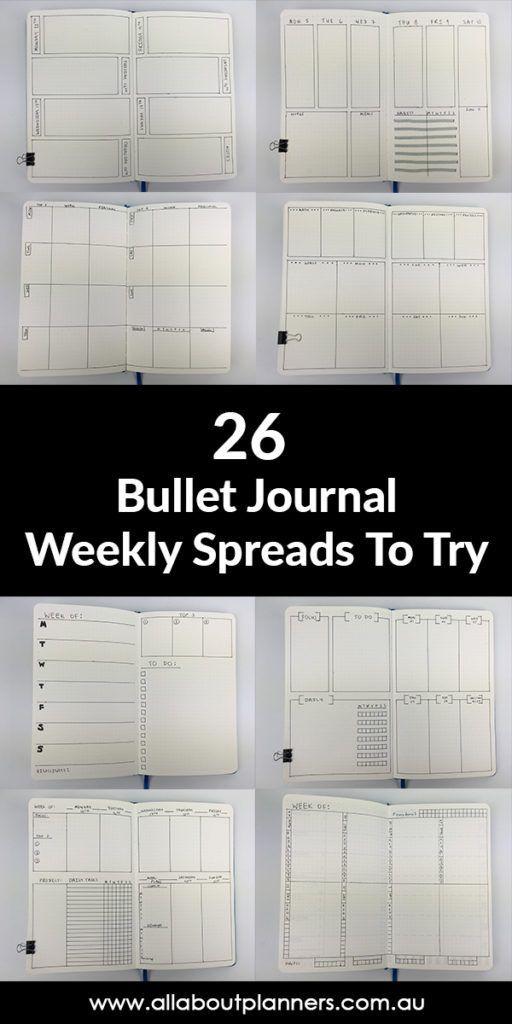 Ideen für das Bullet Journal: 26 wöchentliche Präsentationen zum Ausprobieren