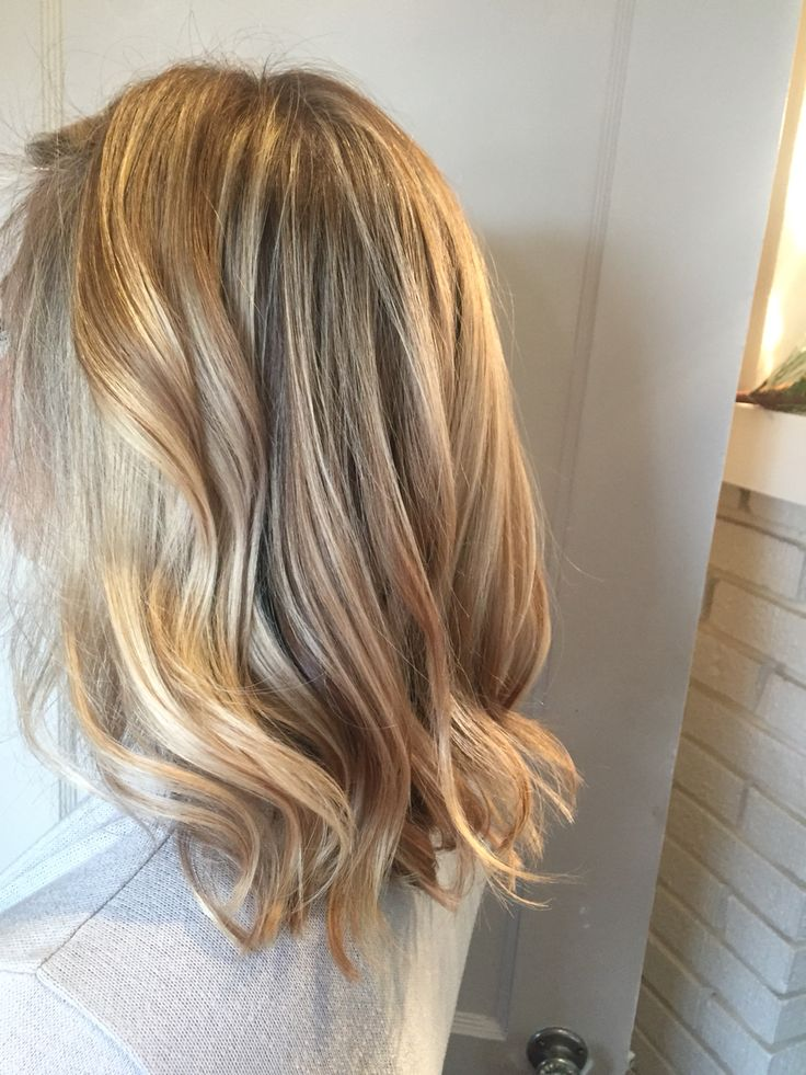 Golden blonde California style hair