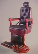 "1"" Scale Bespaq Mahogany Downtown Barber Shop Chair"
