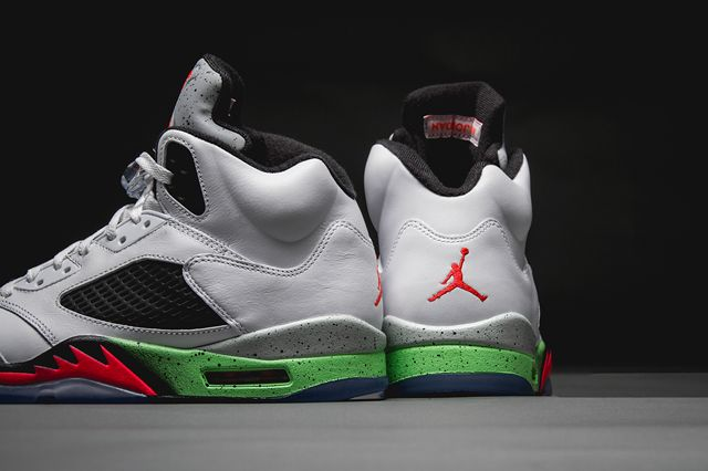 facfe8601e3637 sole on canvas custom air jordan 5 alternate laney sneaker freaker