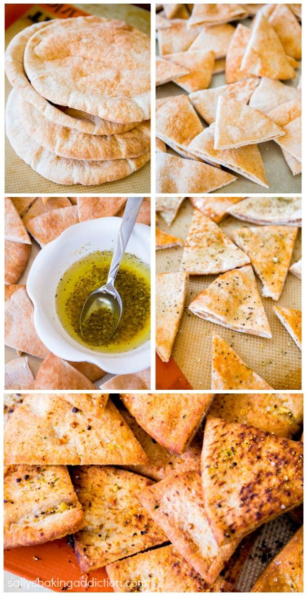 Spiced Whole Wheat Pita Chips. These crunchy pita chips are so simple and you can play around with the spices for what you like!