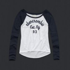 abercrombie girls natalie tee. Have this in navy & pink