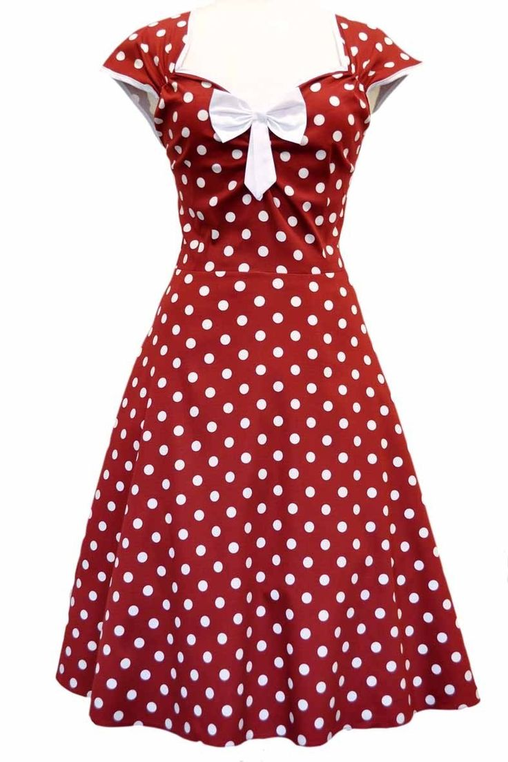 Robe Pin-Up Rétro 50's Rockabilly Isabella Pois
