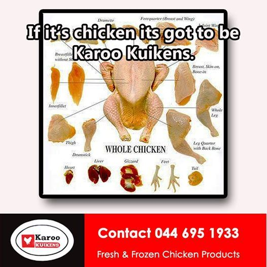 Karoo Kuikens stocks fresh and frozen chicken at unbeatable prices. We also have a huge variety of Free Ranges chicken products to choose from. #freshproduce #chickenproducts #healthyeating