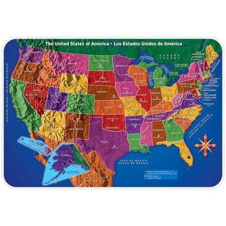 US Map Placemat - Walmart.com