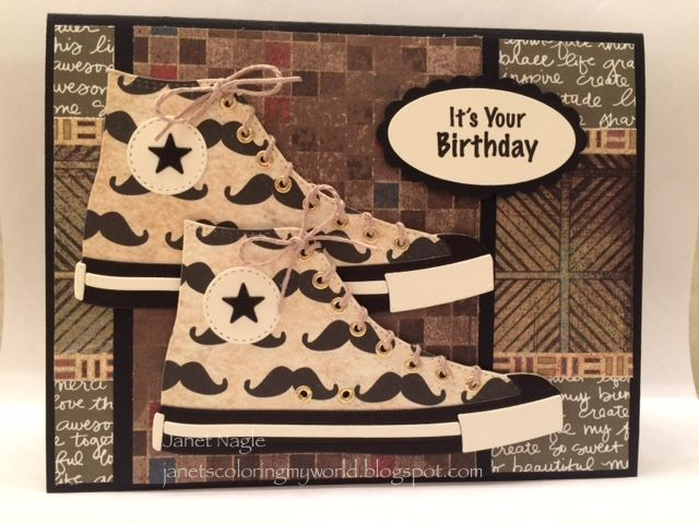 Mustache Sneakers??? by bizzy32765 - Cards and Paper Crafts at Splitcoaststampers