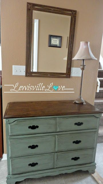 """Lewisville Love Blog.""  I love the idea of refurnishing furniture into new life! This summer I purchased some old dressers to be refinished (still need to finish the handles;) & already know how to refinish but pinning this to remember how to create the distressed look."