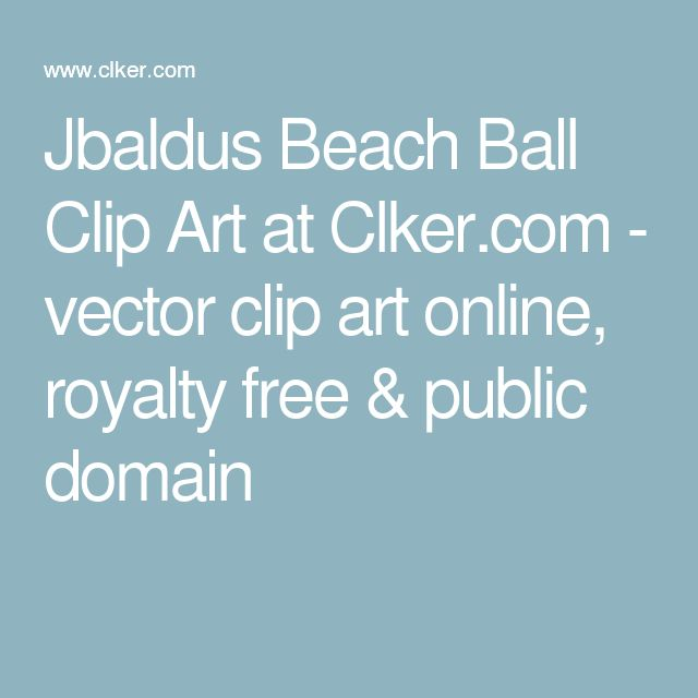 Jbaldus Beach Ball Clip Art at Clker.com - vector clip art online, royalty free & public domain