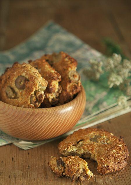 Cookies salés aux olives vertes et noix de cajou
