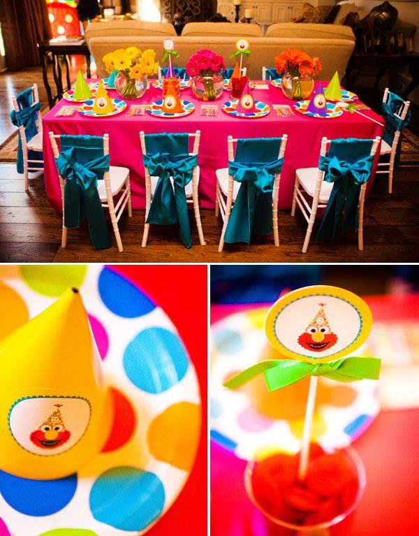 Sydney, Sesame Street, Party Ideas, Decorations, Birthday, Cake, Polka Dots, ElmoGirls Sesame, Sesame Street, Kids Tables, Birthday Parties, Elmo Birthday, Parties Ideas, 2Nd Birthday, Elmo Parties, Birthday Ideas