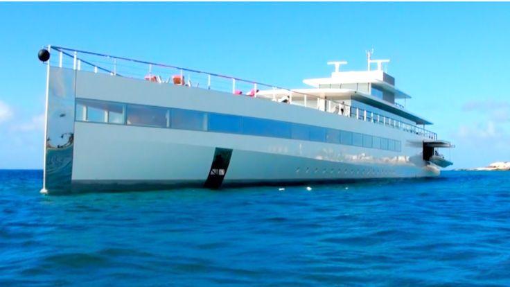 "Ever Seen Steve Jobs MEGAYACHT ""Venus""? Here it is in St Maarten, CARIBB..."