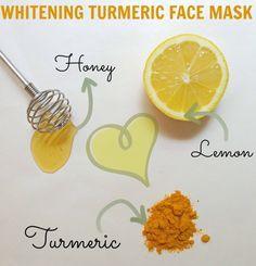 This turmeric lemon honey face mask works wonders on oily skin.
