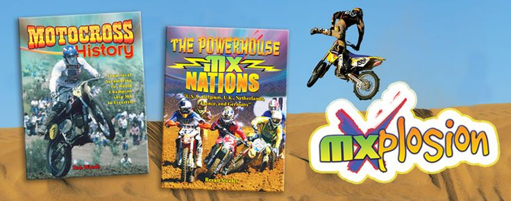 MXplosion series (Crabtree Publishing)_ Today, the excitement surrounding American-style motocross dwarfs most sports. Fans will love the MXplosion! series which features the riders and races of MX in glorious technicolor. Grades 3-6