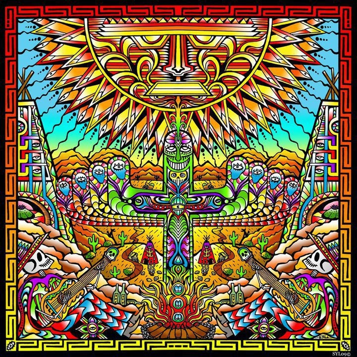 Dead Banjos, Psychedelic Art, Psichedelic Art, Fools Fiestas, Dead Fools