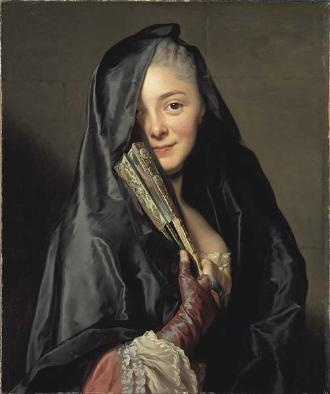 "Alexander Roslin, swedish painter . Love his way of painting really realistic cloth/fabrics. ""Lady with vail"" 1768."