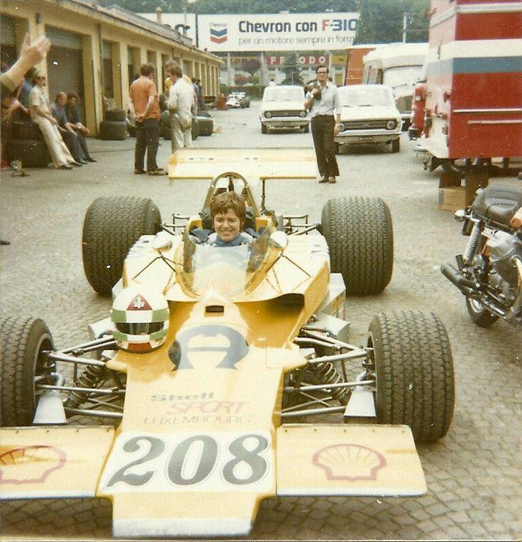 Lella Lombardi at the 1970 Formula 5000 race meeting at Monza.