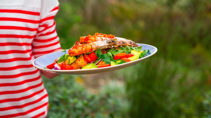 Peri-Peri Prawn, Calamari and Chickpea Salad