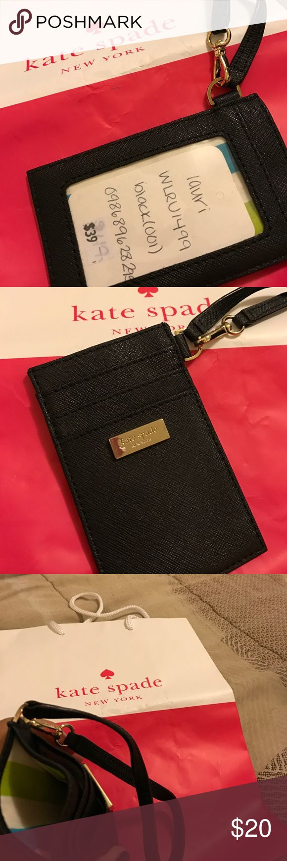 Id badge holder brand new id badge or credit card holder kate spade accessories key