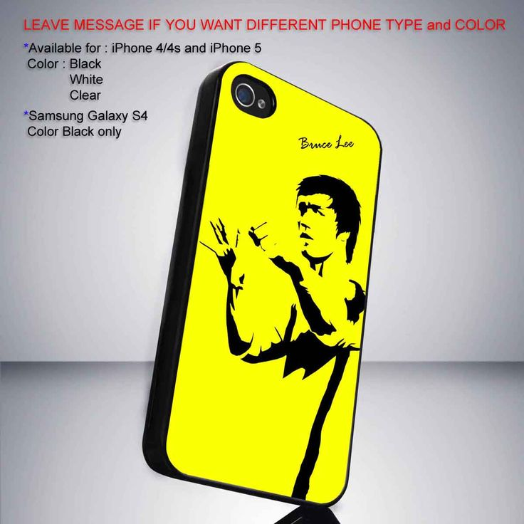 Bruce lee yellow background iPhone 5 BLACK case
