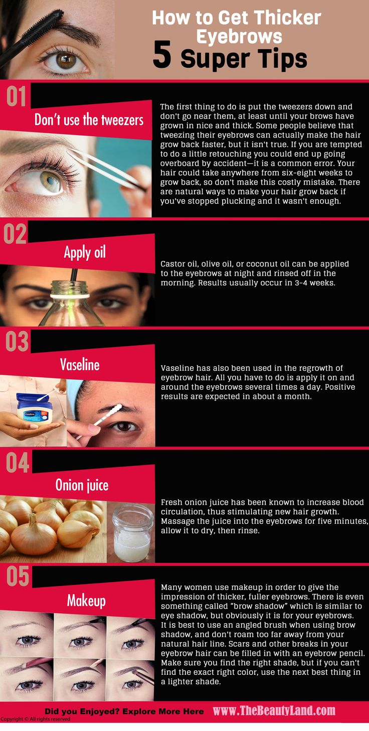 How to Get #Thicker #Eyebrows – 5 Super Tips http://www.thebeautyland.com/how-to-get-thicker-eyebrows/