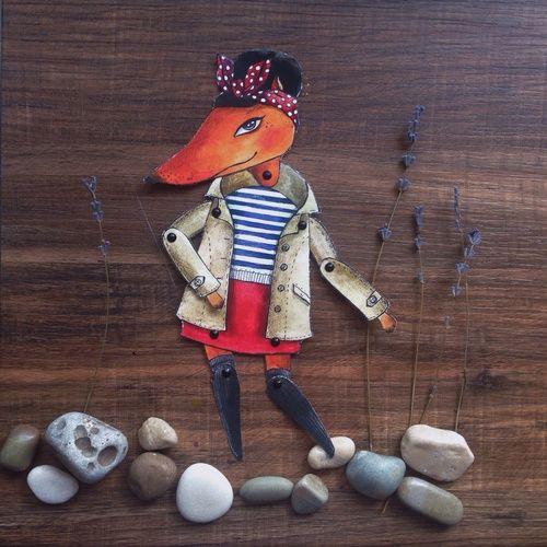#Бумажныекуклы #дом на колесах, #подарки #акварельки  #акварель #watercolor  #fox #лисичка  #лиса #лисы #модница #мода #кукла #бумажная кукла #кукла из бумаги #paper doll