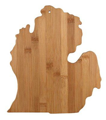 Totally Bamboo State Cutting & Serving Board, Michigan, 100% Bamboo Board for Cooking and Entertaining Made in Michigan