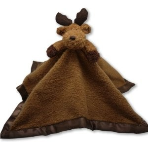 The Babymio Collection Mellven the Moose BaBa Lovey Tag-A-Long, Brown