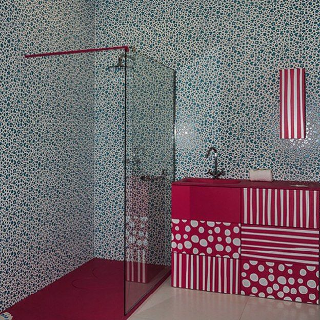 Colorful  textural #tiles define this collection from @pamesaceramica designed by renowned #fashion #designer @agatharuizdlprada.  #architecture #cersaie #cersaie2015 @cersaie #Bologna #azulejos #baño #carrelage #fliesen #homedecor #interiors #pavimento #revestimento #Spanishtile #tilestyle #tiledesign #tileart #tileaddiction #walltile by tileometry
