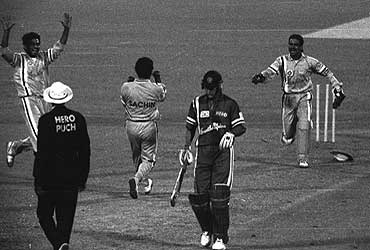 INDIA won Hero Cup, 1993.India wins the final for the excellent bowling by the Man of the Match of Final Anil Kumble (6.1-2-12-6).