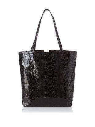 69% OFF Carlos Falchi Women's Small Microfiber Tote Bag, Black, One Size