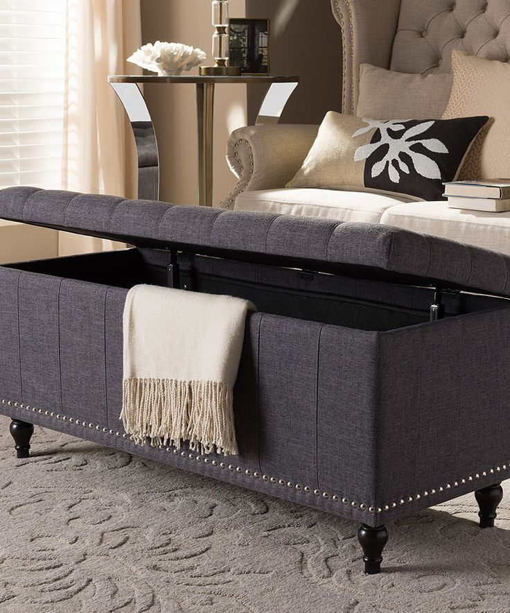 Take a look at this Dark Gray Kaylee Storage Ottoman Bench today!