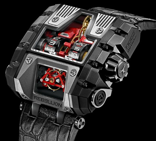 Rebellion T-1000 Gotham. I'm not sure who could pull off a watch like this.