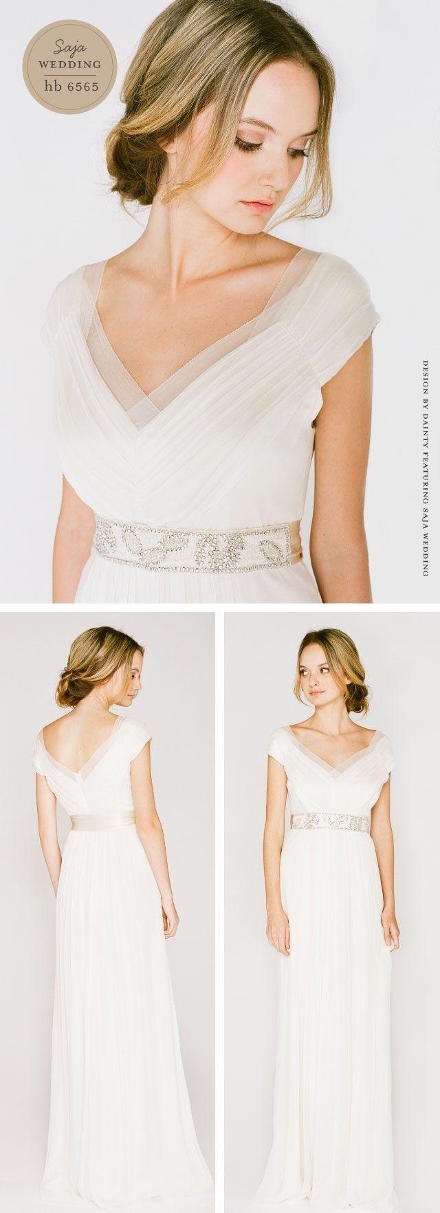 Saja wedding dress via @Once Wed