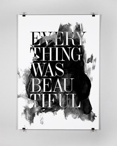 Everything was Beautiful  Big Size Poster by sinansaydik on Etsy