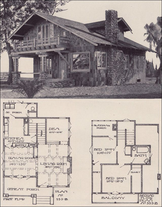 1912 Swiss Chalet Bungalow - LA Investment Co.; this is my fave so far, complete with sleeping porch ;)