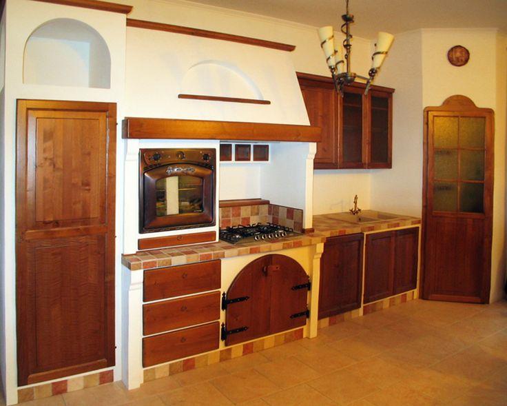 cucina ad angolo marrone in arte povera | kitchen | pinterest - Landhauskchen Mediterran