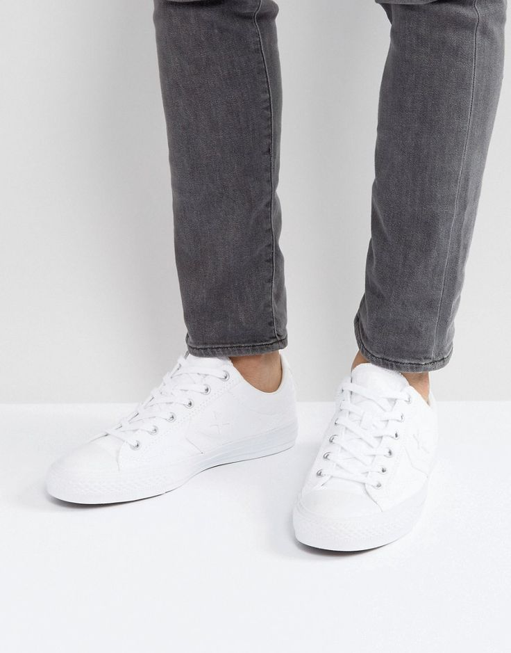 Get this Converse's low sneakers now! Click for more details. Worldwide shipping. Converse Ox Star Player Plimsolls In White 157760C - White: Plimsolls by Converse, Supplier code: 157760C, Textile upper, Lace-up fastening, Moulded tread, Wipe with a damp sponge, 100% Textile Upper. The iconic hi-top canvas trainer created by Converse at the beginning of the 20th Century, have become a genre defining item. They now sit comfortably alongside the label's trainer collections and designer…
