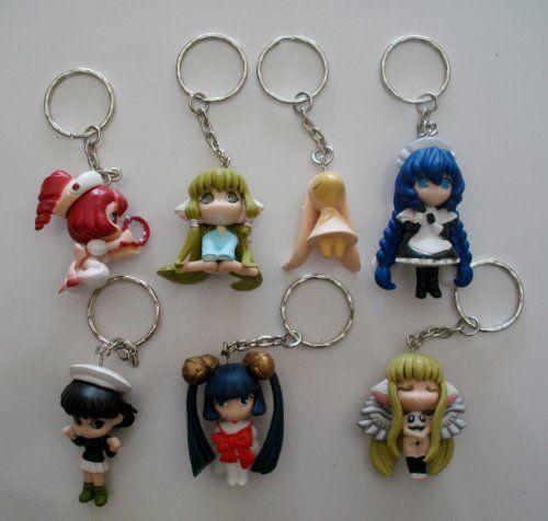 7 Chobits Chi Yuzuki Yumi Sumomo Kotoko Bunny Anime Keychains Set