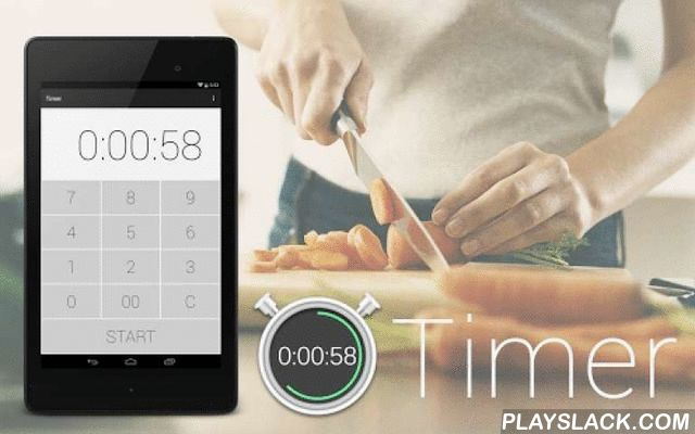 Timer-Kitchen Timer&Stopwatch  Android App - playslack.com , Is a simple Timer and Stopwatch.※ Timer is free, but you can hide the ad by buying a plug-in extension.[Features]-Supports Tablet.-Supports different Themes(Ninja BLACK/Samurai WHITE/Sakura RED/Yuzu YELLOW/Ajisai BLUE/Matcha GREEN)-Supports different Fonts(ROBOTO/SERIF/SERIF BOLD/SERIF ITALIC/SANS SERIF/SANS SERIF BOLD/SANS SERIF ITALIC)-Multiple audio outputs(Ringtone,Media,Alarm)Made in Japan.