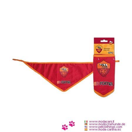 Bandana para Perros fútbol Roma - Aquí está la línea de accesorios para los perros dedicados a todos los aficionados de la AS Roma: Bandana Perros del club de fútbol italiano Roma