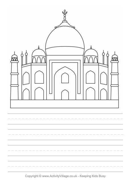 CC Cycle 1 -week 3 fine arts -upside down drawing -Taj Mahal story paper
