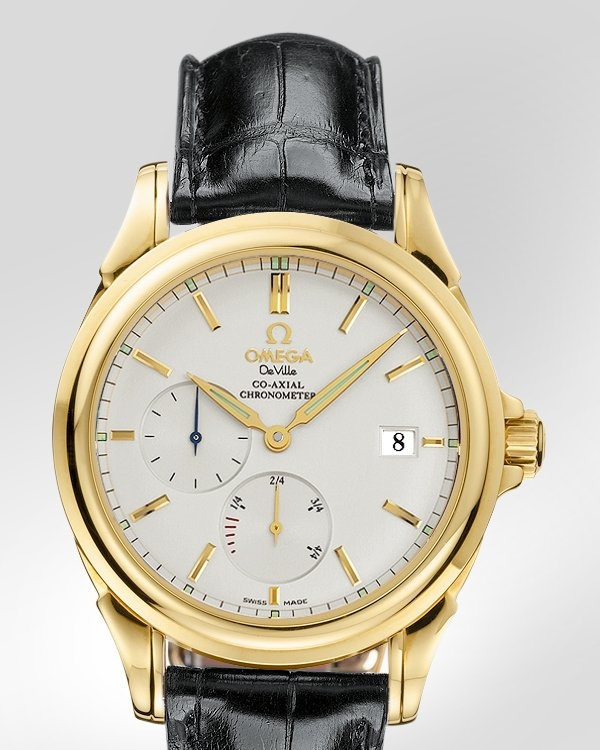 OMEGA De Ville Co-Axial Power Reserve - Yellow gold on leather strap - 4632.31.31