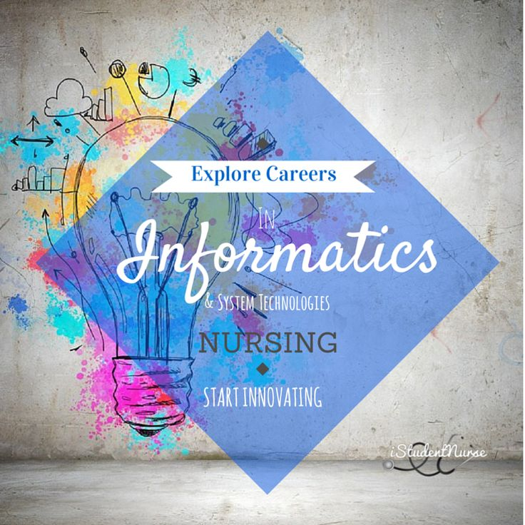 Nursing Informatics Career Planning: Explore this innovative and exciting nursing specialty!  As healthcare systems become digitalized, Nurse Informaticians are needed more than ever. Here's a brief overview on the informatics industry, including the role it plays in healthcare delivery, job outlook, and some resources for locating academic programs @iStudentNurse #NurseHacks #ITNurse #NursingInformatics