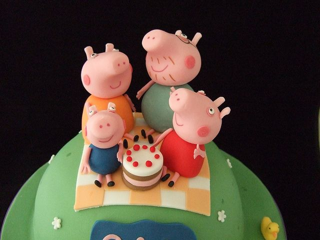 Pepper Pig Cake by Just the cake, via Flickr