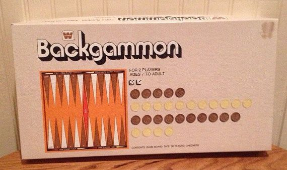 Vintage 1973 Backgammon Board Game, Made By Whitman. Game is complete. Game board does have a few minor issues, no rips nor tears. Game box has a mark (picture) at the top right hand corner, looks to be where a price tag used to be. Game box does have a few minor issues. Game Checkers come in original box!!! PayPal only please!!  #VintageBoardGames #Retro #Christmas