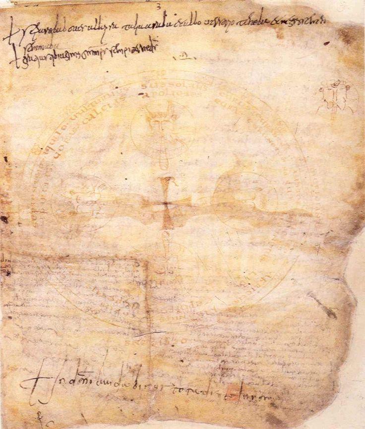 La pergamena originale in cui è contenuto l'Indovinello veronese ( Verona, Biblioteca Capitolare)
