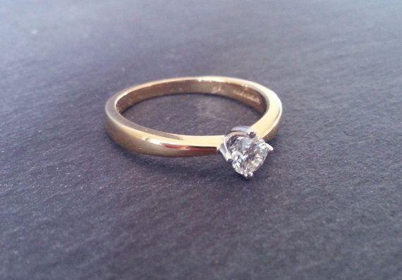 Plain Solitaire Diamond Engagement Ring Single by ArahJames