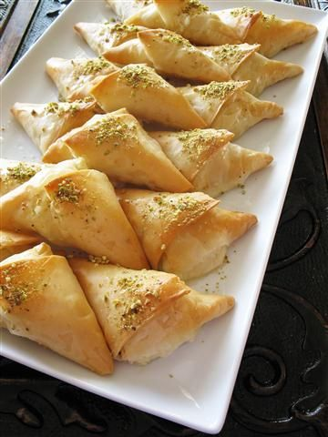 Cream-Filled arabic pastries